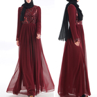 customized beautiful muslim chiffon kaftan dresses dubai abaya with sequin