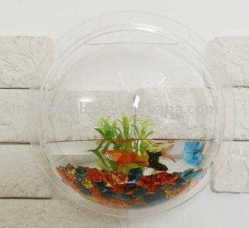 Acrylic Wall Mounted Fish Tank,Small Fish Tank,Round Wall Aquarium ...