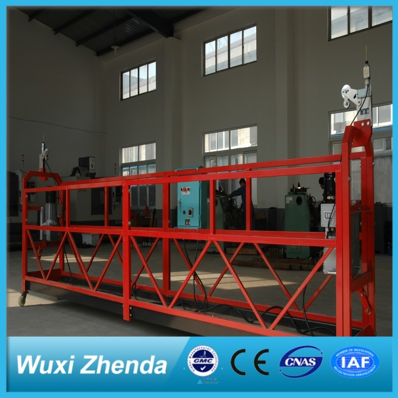 630Kg Top Quality Hy Factory Sale Construction Work Platform Building Maintenance Gondola Four Wheels Electric