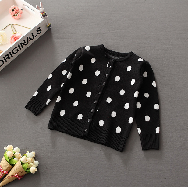 cf479d5dd New design baby woolen fashion knitting cardigan patterns spotted chirstmas girl  sweaters wholesale kids sweaters ...