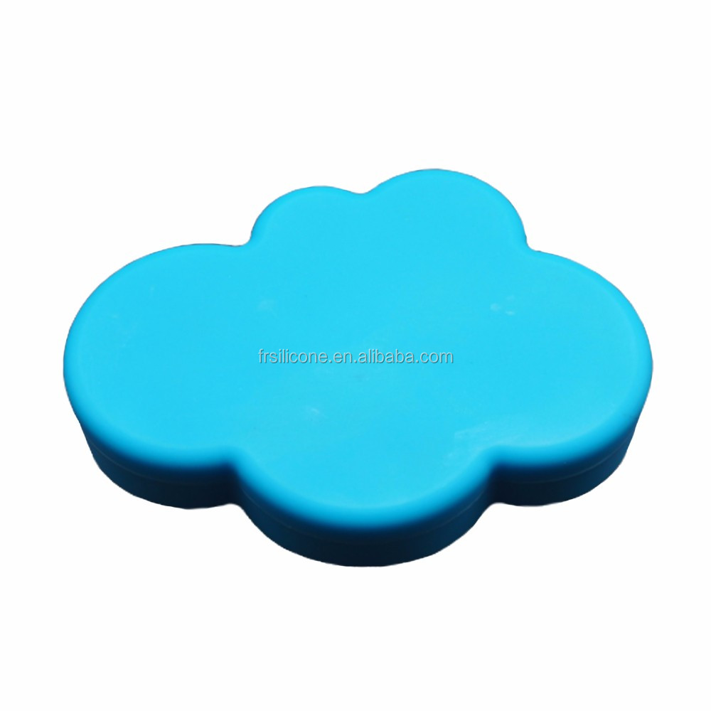 Manufacturer supply cloud shape container silicone jars for wax oil extract bho for foreign trade