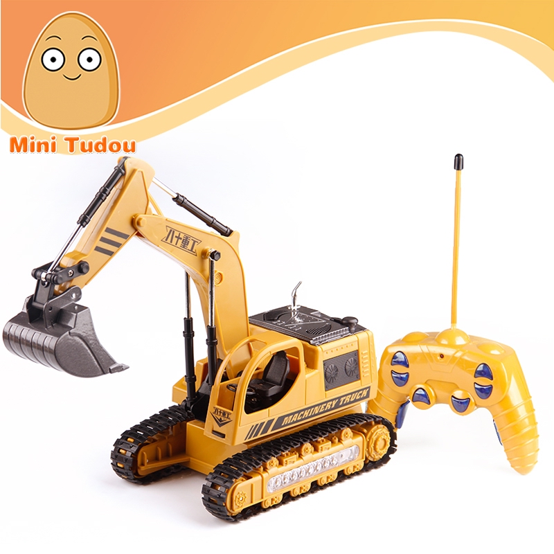 Educational Kid Toy Alloy Diecast <strong>Model</strong> RC Truck Vehicle Car Engineering Excavator