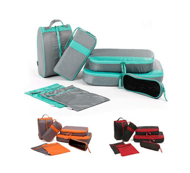 Professional custom functioanl travel organiser bags travel packing pouches organize it cubes