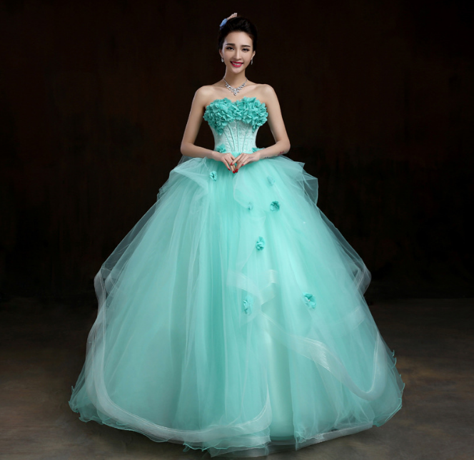 Custom Made Green Off-shoulder Long Princess Turkish Style Ball Gown ...