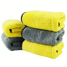 Super absorbent high quality microfiber coral car washing cleaning towels