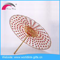 Chinese promotional personalized decoration printed craft colored bamboo oil paper umbrellas for wedding