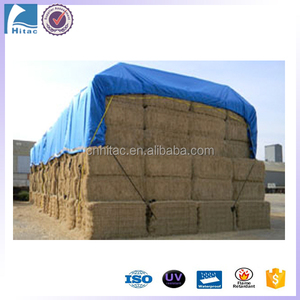 windproof waterproof round bale straw hay tarps cover