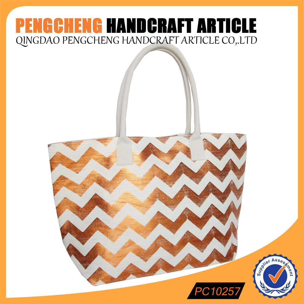 China manufacturers paper straw beach bag and women polyester handbags