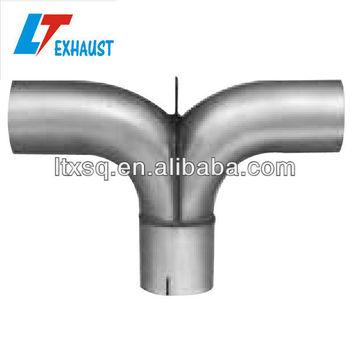 Exhaust Splitter Tee Adapter - Buy Exhaust Pipe Adapter,Exhaust Pipe,Truck  Muffler Pipe Product on Alibaba com