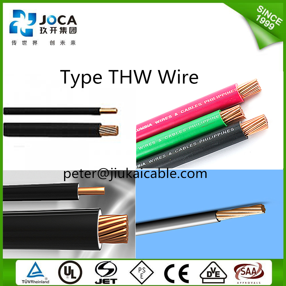 14 AWG Copper PVC insulated solid TW/THWN/THHN/THW wire 600V
