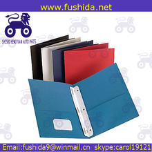 Office stationery assorted color 2 pocket pp file folders portfolio