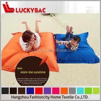 Beads Floor Cushion Square Shape Big Beanbag Solid Lazy Sofa Chair FAT 05