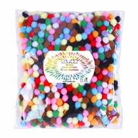 YIPAI Gift And Craft Festival Celebration Glitter Pompom Fun Poms
