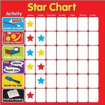 Magnetic Star Reward Chart Dry Wipe For Motivating Children