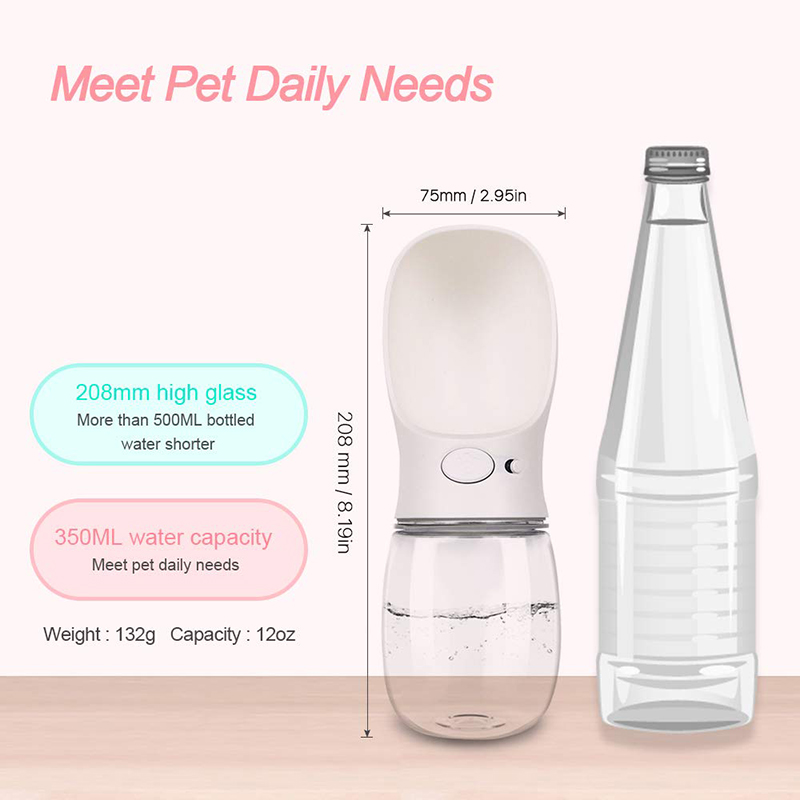 Online Customization Portable Pet Travel Outdoor Drink Feeding Dog Water Bottle