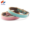 Wholesale Personalized Durable Luxury Adjustable Leather Pet Collar With Rivet