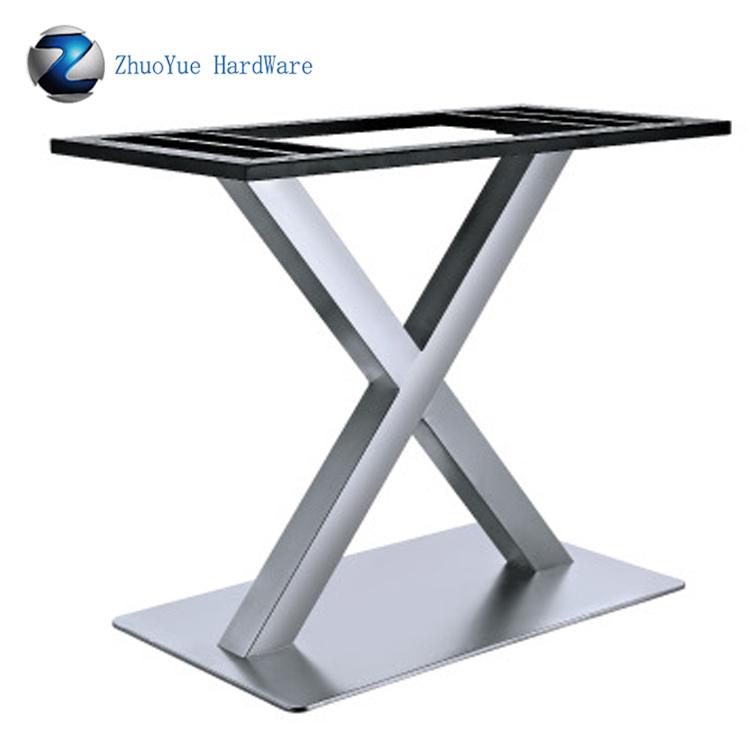 сверхмощный матовый алюминиевый складной металлический обеденный стол подстолье X форма из нержавеющей стали металлические ножки Buy ножки