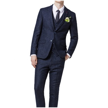 2019 New Design Wholesale 3 Piece Coat Pant Silm Fit For Man Suit