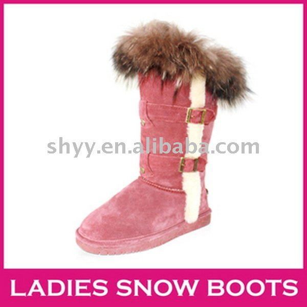 Latest style tall ladies snow boot high quality winter boot