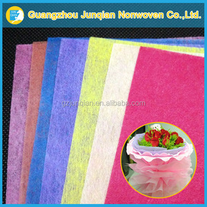 Use For Packing Flower Wrapping Non Woven Beautiful Wet-laid Non Woven