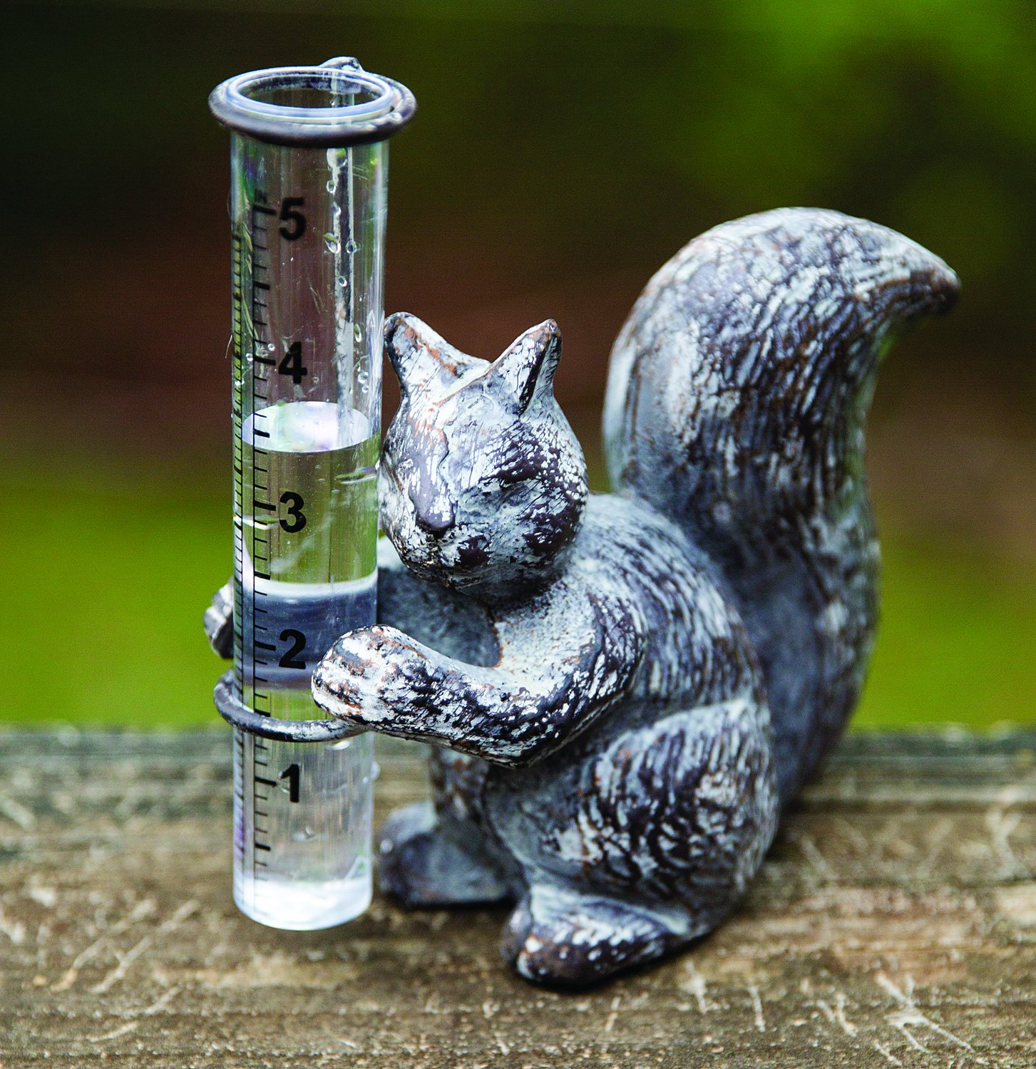 MW Squirrel Cast Iron Rain Gauge 2.5X6X5.75