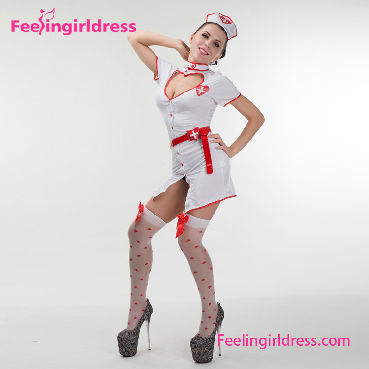Adult Professional Sex Fantasy Dress Japanese Nurse Girl Costume