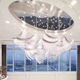 Turkish Hotel lobby ceiling K9 crystals glass big chandelier pendant light