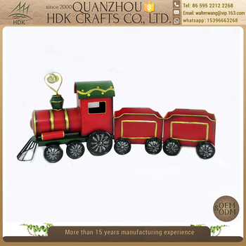 handmade christmas gift fascinating iron train yard decoration - Christmas Train Yard Decoration