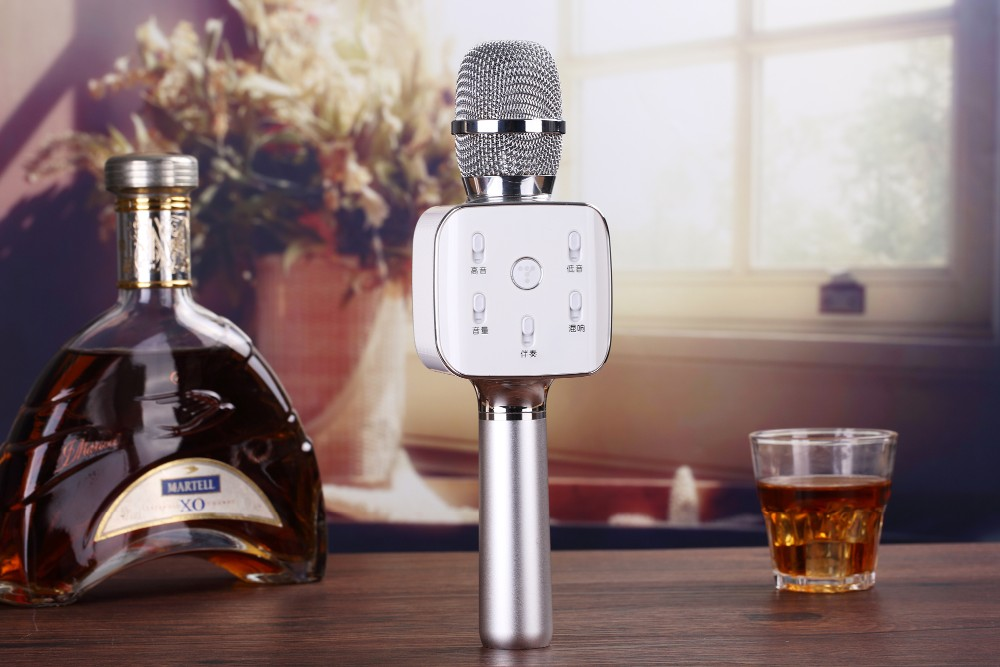 TUXUN New Model!!!Portable Karaoke Wireless Bluetooth Microphone Support Record For Smart Phone