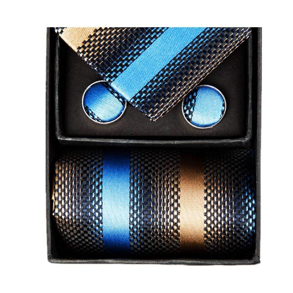 ae07f538d6a Z-P Mens Neckties Brown Gradient Gorgeous Pocket Square Cufflinks Silk Tie  Set