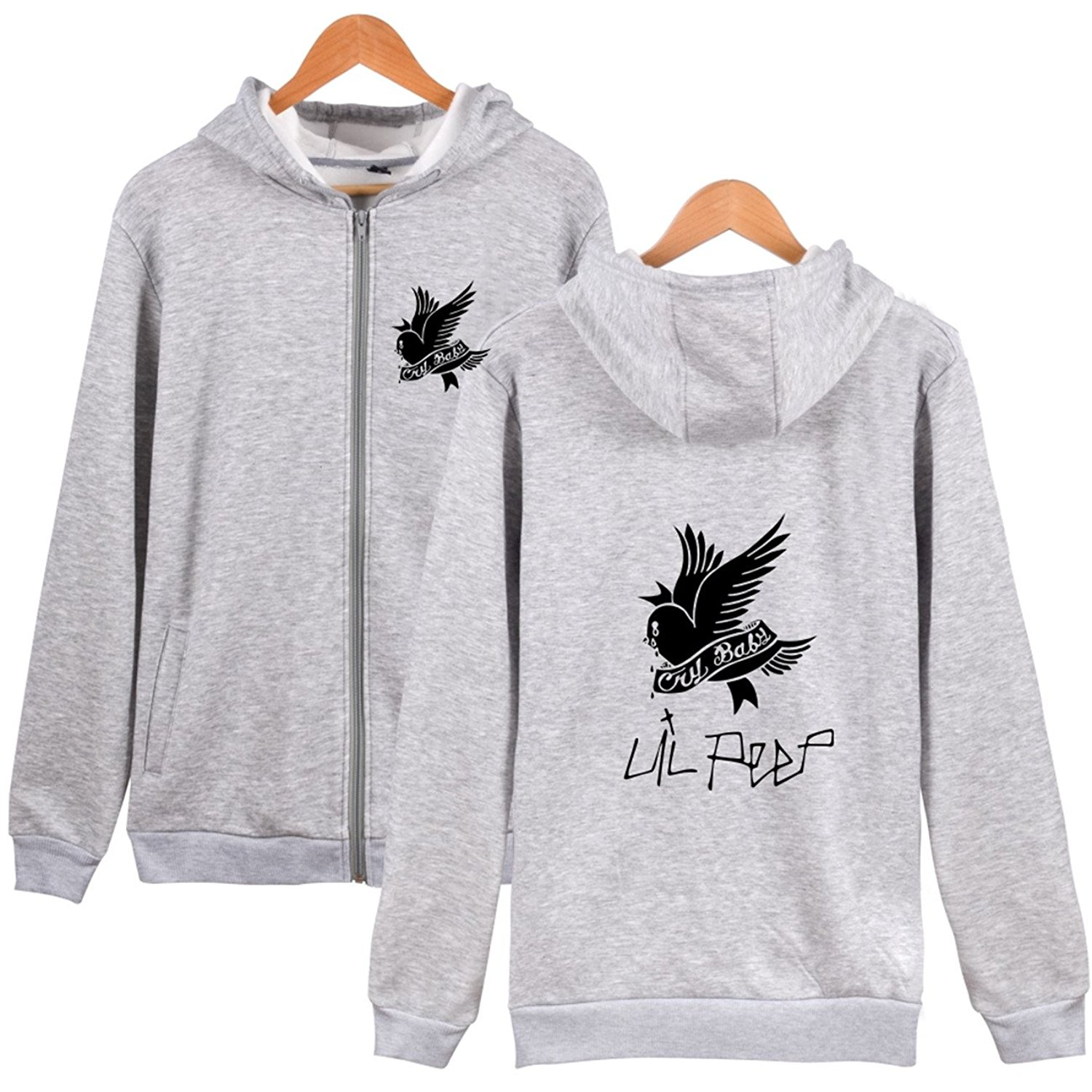 3fd085a0bbc Get Quotations · SERAPHY LIL Peep Cry Baby Unisex Hoodie Zipper  Spring Summer Mens Sweatshirts Casual Hoodie Men