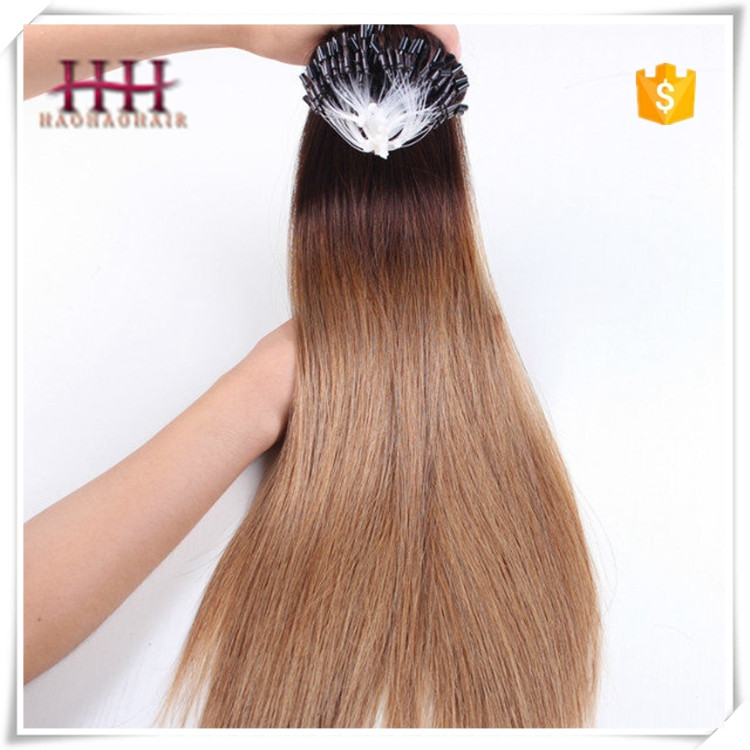First sales 2016 high quality cheap indian hair 100% remy human hair easy loops micro ring hair
