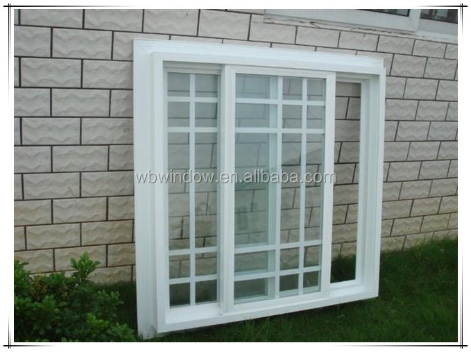 Iron 2016 window grill design for pvc window frame new for Pvc window frame