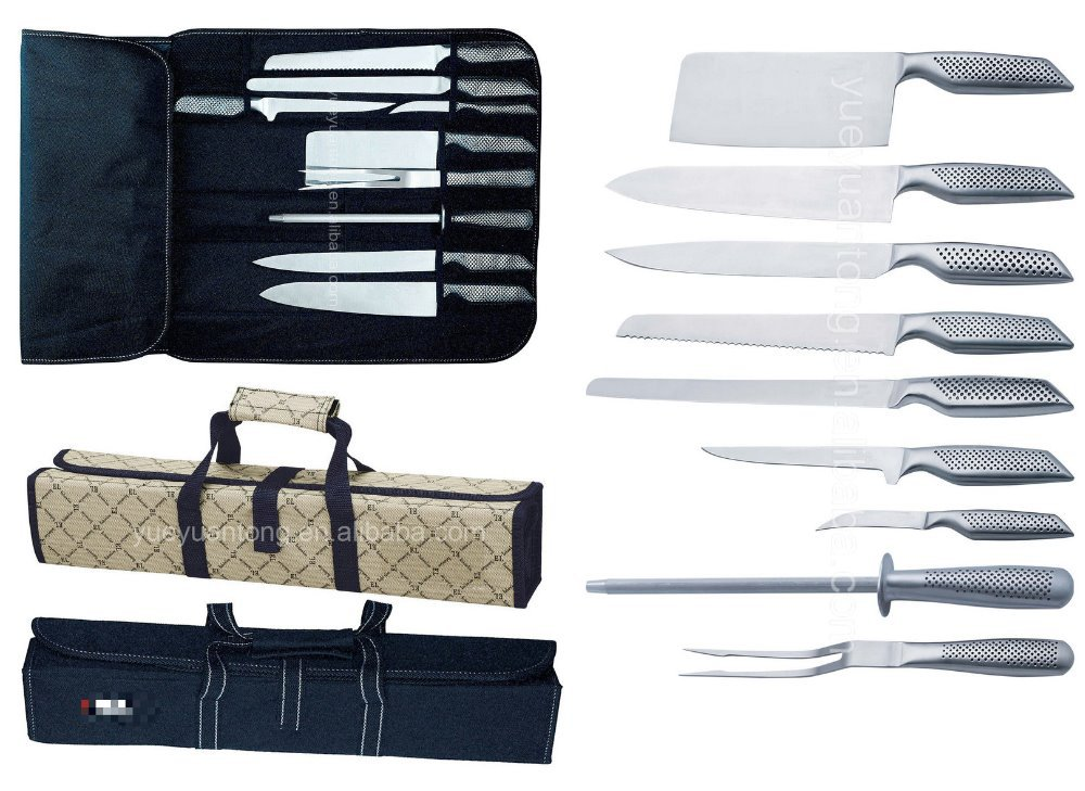 9pcs swiss kitchen multi knife set with credit card in