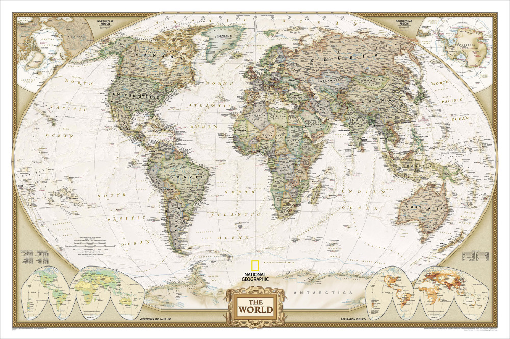 P1021 Most Accurate World Map Wallpaper Poster Wall Art