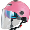Summer half face motorcycle helmet with inner lens