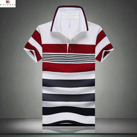 Newly design striped cotton made in peru t shirts