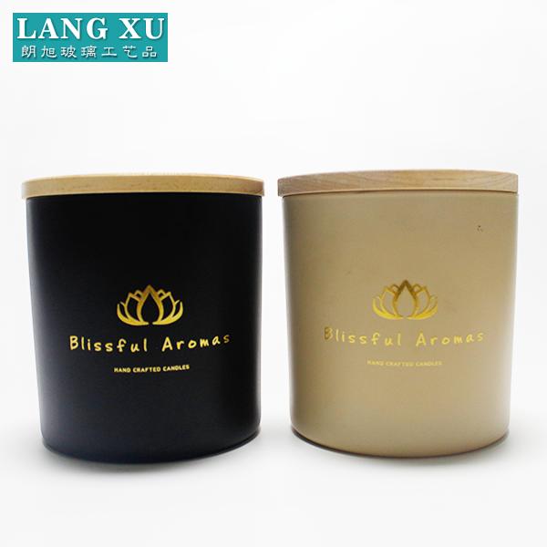 Faj10x10 Best Selling Matte Black Glass Candle Jars Wholesale For Wax - Buy  Black Glass Candle Jar,Glass Candle Jar,Candle Glass Jar Product on