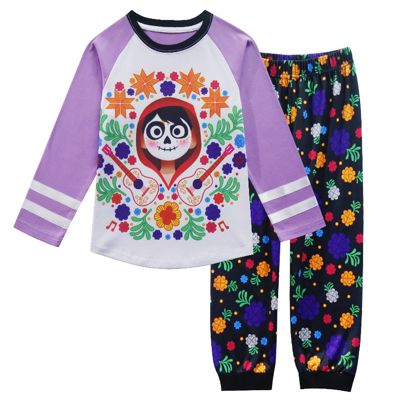 d347ff84a2 2018 Autumn Girls Pajamas Spring Long Sleeve Cute COCO Toddler ...