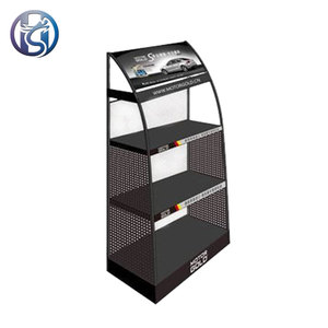 Lubricants display racks motor engine oil rack iron lubricating oil customized display stand for retail store