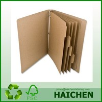 1 Inch Recycled Kraft Binder with 5 Tab Divider Inserts