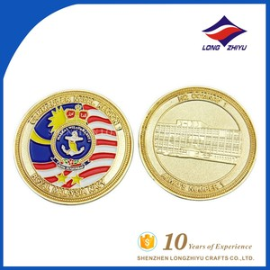 Royal Malaysia navy paint building stamping custom coin