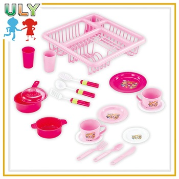 Kitchen Play Set Toys Kitchen Set For Children Kids In Plastic Basket