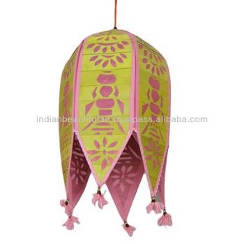 Cutwork Lamp Shade Indian Decor Toran/kandil Pink Wedding Party ...