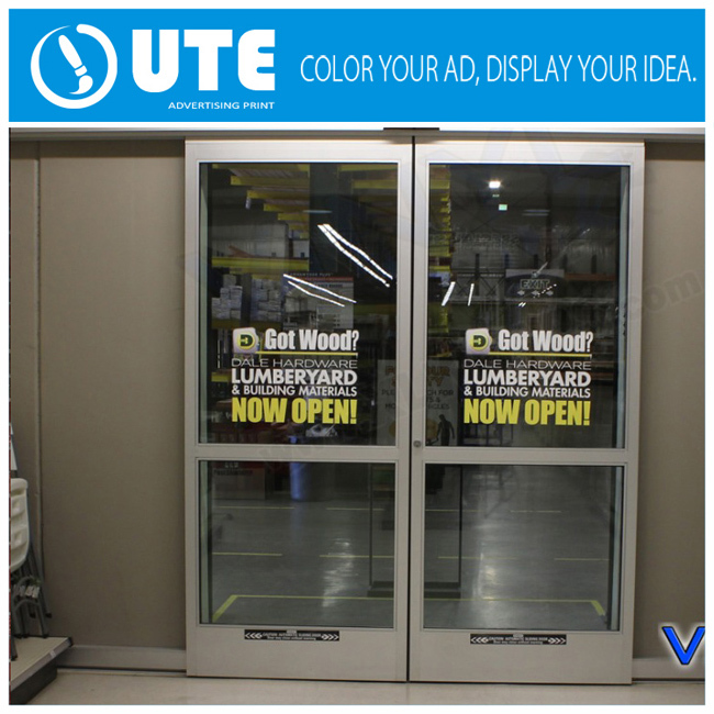 Glass Door Advertising Promotion Removable Window Vinyl Sticker - Vinyl stickers for glass doors