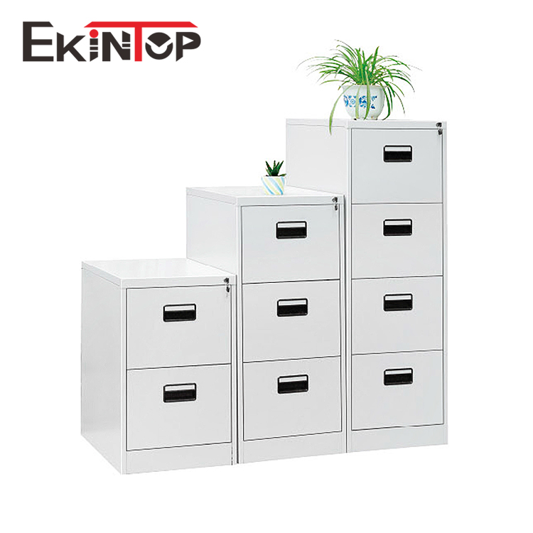 Ekintop stainless steel kardex lockable nightstand four filing drawer cabinet with drawers