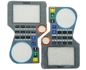 CNC machine display control screen lexan keypad graphic overlays with adhesive membrane panel