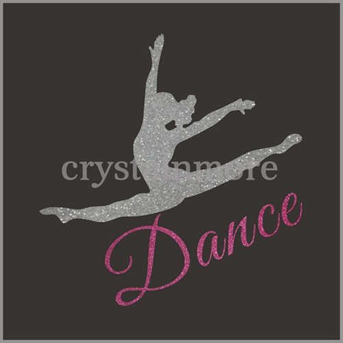 Vinyl Glitter Heat Transfer Dance Design for t shirts