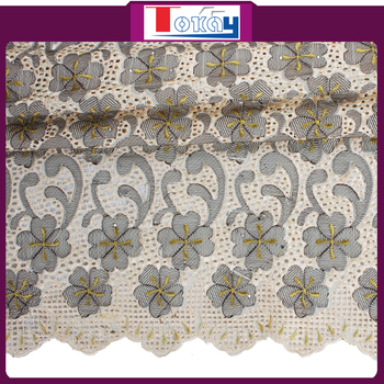 Tissu de broderie suisse voile for women in wedding and for Tissus ameublement suisse