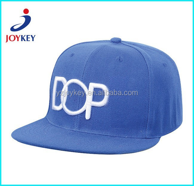 High quality puff embroidery snapback cap